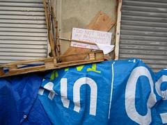 Homeless Camp Warning (236ism) Tags: camp warning homeless