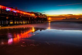 Neon Pier Sunrise