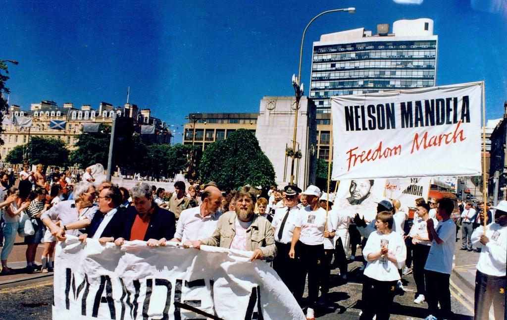 Mandela March Glasgow 1980s