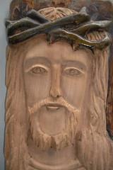 Rosto de Jesus esculpido (Manoel Gomes do Nascimento Filho) Tags: escultor marceneiro