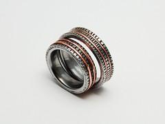 """Recefice"" wedding bands (Blind Spot Jewellery) Tags: wedding art iron contemporary steel jewelry ring jewellery rings copper ferrousjewellery"