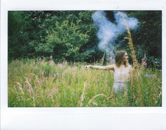 Blue Utopia (teacup_dreams) Tags: film fashion instax 210 smokebomb filmfilmforever