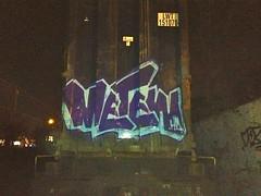 metew hd! (o$ama bintaggin) Tags: nyc blue baby cars train graffiti track purple letters ct cargo boxes hd straight bombing sic tbm metew