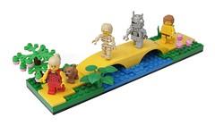 Follow the Yellow Brick Road (pasukaru76) Tags: dorothy lego oz scarecrow wizardofoz toto tinman moc yellowbrickroad cowardlylion sigma28mm ironbuilder