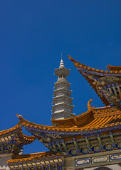 Chongsheng Temple, Dali, Yunnan Province, China (Eric Lafforgue) Tags: china travel roof vacation sky color colour history vertical mystery architecture temple photography pagoda ancient asia day outdoor religion buddhism nobody nopeople tourist copyspace ornate yunnan dali majestic thepast buildingfront traditionalculture eastasia placeofworship chineseculture colorimage chineselanguage buildingexterior colorpicture placeofinterest lowangleview yunnanprovince traveldestination colourimage builtstructure chongshengtemple traditionallychinese a0007227