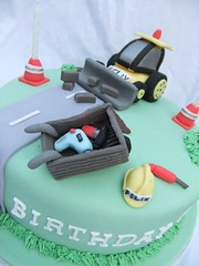 Digger cake (Victorious_Sponge) Tags: birthday tractor boys cake tools digger