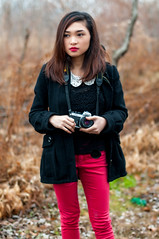 Nikon Girl (Dom Borja Photo) Tags: park portrait beautiful beauty newjersey woods gorgeous nj precious nikonfe2 nikon50mm14d nikongirl niksoftware nikond300