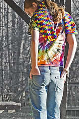Day 65 - What You Got, A Million Could Have Never Bought (Reg Photography4Lyfe) Tags: boy portrait man male colors fashion shirt photography 1 model nikon colorful longhair daily portraiture ponytail 365 tiedye nikkor j1 day65 2012 65365 121412 nikonj1 30110mm