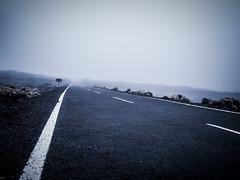 Foggy road (freakyman) Tags: road españa fog spain carretera olympus tenerife e1 canaryislands niebla zd 1454mm guíadeisora