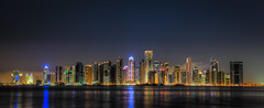 After the Fireworks (artoric) Tags: night lights nightshot pearl hdr 2012 doha qatar nationalday westbay photomatix addawhah lukakemperle canon5dmarkiii