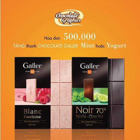 Tặng Socola Galler tablet Mint hoặc Yogurt
