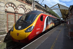 Virgin Trains Pendolino 390107 Independence Day Resurgence (Will Swain) Tags: crewe station 3rd july 2016 cheshire north west south county train trains rail railway railways transport travel uk britain vehicle vehicles england english class 390 virgin pendolino 390107 independence day resurgence main line mainline