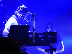 (kristen mckeithan) Tags: eaux claires 2016 eauxclaireswi music festival eau claire wisconsin august nightfall night dark justin vernon bon iver 22 million blue light staves 12th