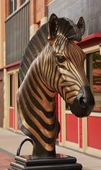 Serengeti (Bubash) Tags: bronze zebra sculpture artist eau claire wisconsin tour vote favorite