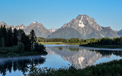 Mount Moran and Morning Reflection (T.M.Peto) Tags: mountain outdoor outdoors greatoutdoors landscape mountainpeak water lake reflection watercourse ridge mountainside river fog nature trees snow glacier pine mountmoran tetons wyoming grandtetonnationalpark morning summer scenic scenics scenicsnotjustlandscapes