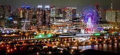 Tokyo harbor area_Tokyo Telecom center view room (sapphire_rouge) Tags:  aoumi kotoku rainbowbridge bay japanese      tokyobay  nightview  wangan shore  rinkaihukutoshin japan  seaside