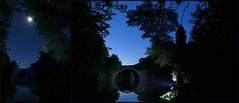 nachts in Kromlau, Rakotzbrcke (Harald Steeg) Tags: haraldsteeg fz1000 deutschland rakotzbrcke kromlau sachsen nachtaufnahmen collage