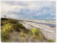 Lonely coast (Solly Avenue) Tags: waterscape light landscape beach painterlyapp ipadpainting ipadsketching impressionism digitalphotoart travel coastal photomanipulation painterly