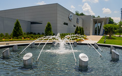 Hendrick Motorsports Memorial (Anthony's Olympus Adventures) Tags: nascar charlotte nc memorial hendrickmotorsports hendrick concordnc water fountain