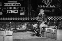 Smoke Break. Windsor, ON. (Pat86) Tags: photooftheday windsor old man sitting smoking break black white streetphotography