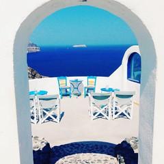 Caldera view (elirus1) Tags: summer sea sun blue egeo caldera calderaview santorini oia fira greece santoriniisland sunset
