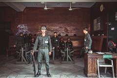 And the chief said : Hey Guys, there is a Photographer! - Bangkok (Ronan Siri Photography / @:ronan.sirim@gmail.com) Tags: thailand military soldier bangkok guard guardian ronansiri canon eos 24105mm explore light asia men uniform weapons old place world trip travel