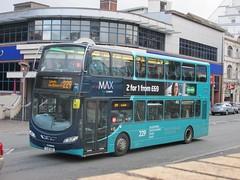 Arriva Yorkshire 1541 YJ61OBR York St, Leeds on 229 (1280x960) (dearingbuspix) Tags: arriva 229 arrivayorkshire grandyorkshireconnections yj61obr 1541 max