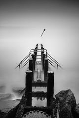 Corton 28/08/2016 (Matthew Dartford) Tags: bw eastanglia beach blackandwhite bokeh coast coastal corton defences groynes leadinglines longexposure mono monochrome norfolk sea symmetry water