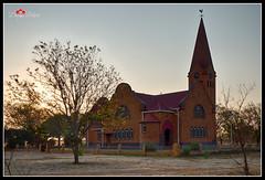 Sannieshof, South Africa at sunset (DreyerPictures (3 million views - Thank You!)) Tags: gh4 lumix m43 mirrorless sannieshof southafrica m43ftw microfourthirds sunset northwest za church architecture