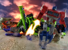 Optimus says that's enough (guitar hero78) Tags: takara mp10 optimus prime toys transformers devastator mp 10 jfigure