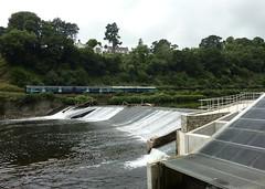Radyr Weir (Christopher West) Tags: tafftrail rivertaff afontaf radyrweir radyr train hydroelectric