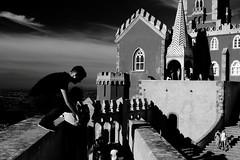 NATIONAL PALACE OF PENA (JAASA2010) Tags: bnw sintra portugal palace national of pena romanticism styles architecture king ferdinand ii ferdinand2 19thcentury creative genius manueline moorish forest luxuriant gardens