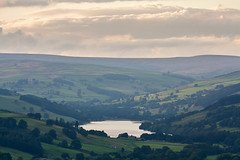Gouthwaite Reservoir (matrobinsonphoto) Tags: nidderdale countryside yorkshire dales landscape north outdoors nought moor high crag guise cliff sunset sunlight sun light gouthwaite res reservoir lake water valley layers telephoto summer