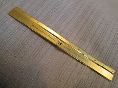 md gold metal ruler (M-D Building Products) Tags: md building products