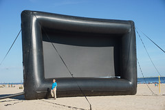 Inflatable (dtanist) Tags: nyc newyork newyorkcity new york city sony a7 konica hexanon ar 50mm brooklyn coney island beach sand sea rooftop films seaside flicks inflatable screen