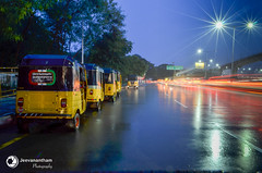 Leading Lines (jeevanan) Tags: kathipara nightview night photography light exposure chennai nikon d7000 1855mm view cwc photowalk bridge rains india tamil nadu auto bikes rain drop metro