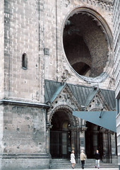 Germany.  June 12th.-20th. 1999 (Cynthia of Harborough) Tags: 1999 architecture arches canopies churches entrances people steps