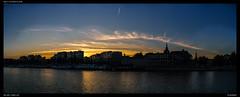 Sunset along the Meuse (Falcdragon) Tags: sonya7alpha ilce7 sonyzeisssonnarfe1855mmza lige liege belgium city panorama skyline cityscape river meuse