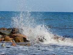 Splash (Landanna) Tags: splash beach strand stones sea nature natur natuur gammelpl als snderjylland zuidjutland denmark denemarken danmark dnemark