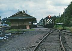 Iron River - 1981 (Missabe Road) Tags: bn 1365 ironriver ashlandline depot gp9m arrowheadcivicclub
