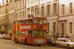 SMT LL124 ALS124Y (bobbyblack51) Tags: smt ll124 als124y leyland olympian alexander rl mcdonalds advert edinburgh 1995