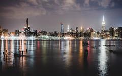 Reflections (Guillermo Murcia) Tags: eastriver river edge landmark imageability nyc newyork gotham newyorkcity brooklyn manhattan longexposure night