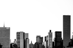 Buildings (Elyssa Drivas) Tags: newyork newyorkcity nyc longislandcity queens centerblvd skyline skyscrapers buildings un unitednations blackandwhite canon canon6d eastside east sun sunny downtown midtown manhattan cityscape city gothamist