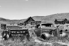 Bodie Ghost Town (punahou77) Tags: bodie bodiehistoricstatepark california mountain mountains mining mine miners punahou77 park easternsierra sierras stevejordan blackandwhite car ghosttown nikond7100