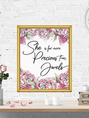 She Is More Precious Than Jewels Proverbs 3:15 (PrintArtPosters) Tags: proverbs nursery bible scripture christian poster quote typography prints printartposters design art wallart pictures print printable gift decor ideas wall