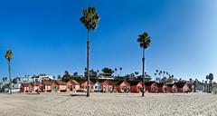 Oceanside Panorama (JeezyDeezy) Tags: sky panorama beach bike sand stitch bluesky palmtrees oceanside photomerge bikerace beachhuts 2012 week44 automate weekofoctober28 week44theme 522012 52weeksthe2012edition