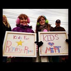 "At Shadybrook Farm ""Kids for Mitt"" (TaniaGail) Tags: president rally candidate republican crowds mittromney annromney shadybrookfarm instagramappsquaresquareformatiphoneographyuploadedbyinstagramhefe 2012unfiltered romneyryan2012 bucksromney"