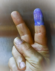 VOTE now, or forever hold your peace... (Mr. Greenjeans) Tags: america democracy peace hand fingers victory vote peacesign 2012 mrgreenjeans democracyinaction gaylon getoffyourass getoutthevote electoralprocess whatwefightfor 2012presidentialelection gaylonkeeling