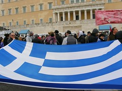 ! Today in Athens! (Eleanna Kounoupa (Melissa)) Tags: flag parliament athens greece constitution protests memorandum rallies reversal          magagr