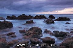 Canio de Baixo (Iigo Escalante) Tags: ocean travel viaje sunset sea summer sky orange sun beach portugal nature water landscape mar europa europe paisaje atlantic national verano planet conde lonely madeira geographic nast viajar traveler islademadeira diariodeviajes